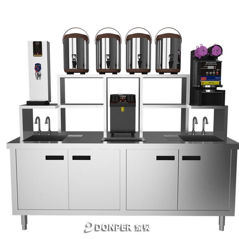 2.0米常温奶茶店水吧台